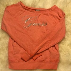 CLOSEOUT off-shoulder Guess sweater